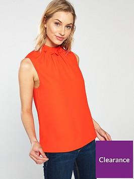 ted-baker-audrye-ruffle-neck-sleeveless-top-orange