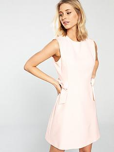 ted-baker-meline-bow-side-dress-baby-pink