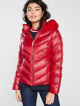ted-baker-laiya-light-weight-padded-jacketnbsp--red