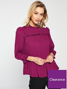 ted-baker-airlie-pleated-smocking-high-neck-top-deep-pink