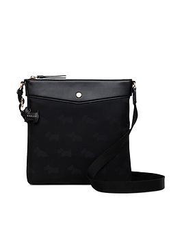 radley-jacquardnbspmedium-zip-top-cross-body-bag-black