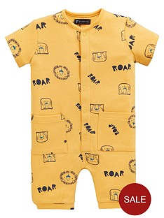 mini-v-by-very-baby-safari-brights-lion-roar-romper-yellow