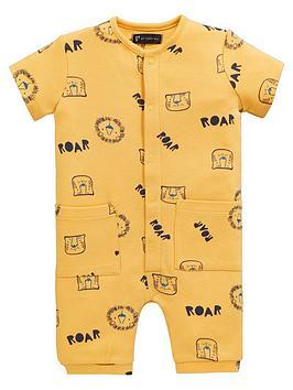 mini-v-by-very-baby-safari-brights-lion-roar-romper-yellow