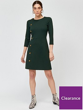 warehouse-button-side-ponte-dress