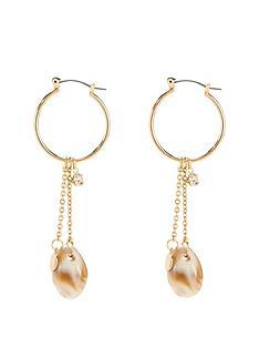 michelle-keegan-shell-chain-earrings-gold