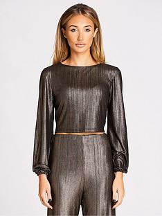 studio-mouthy-by-megan-mckenna-long-sleeved-shiny-top-metallic