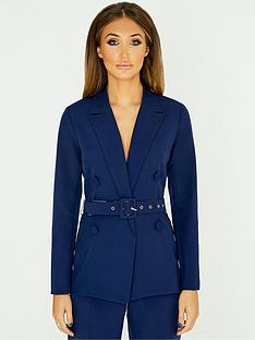 studio-mouthy-by-megan-mckenna-double-breasted-belted-blazer-navynbsp