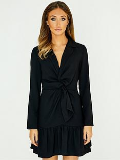 studio-mouthy-by-megan-mckenna-tie-front-mini-dress-blacknbsp