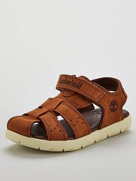 timberland-boys-nubble-leather-fisherman-sandals-brown
