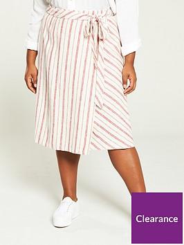 v-by-very-curve-wrap-linen-skirt-stripe