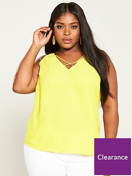 v-by-very-curve-cross-neck-caminbsp--neon-yellow