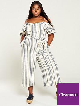 v-by-very-curve-cold-shoulder-linen-jumpsuit-stripe