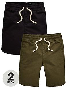 mini-v-by-very-boys-2-pack-ripstop-pull-on-shorts-blackkhaki
