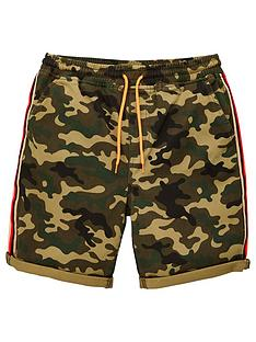 v-by-very-boys-camo-print-side-tape-detail-shorts-khaki