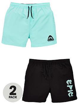 v-by-very-boys-2-pack-epic-swim-shorts-blackgreen