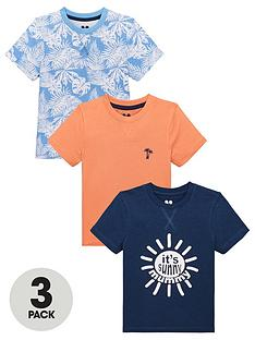 55ab2249bef2 Mini V by Very Boys 3 Pack Its Sunny Mummy/Palm Print T-shirts - Multi