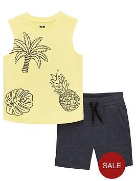 mini-v-by-very-boys-2-piece-palmpineapple-vest-and-shorts-set-blueyellow