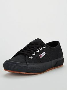 superga-2750-cotu-classic-lace-up-plimsoll-pumps-black