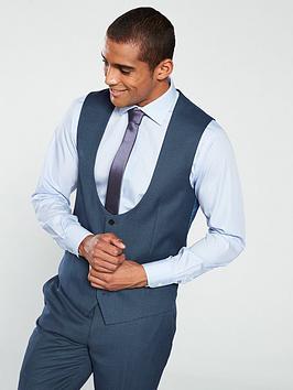 skopes-fermonbspcheck-waistcoatnbsp--blue