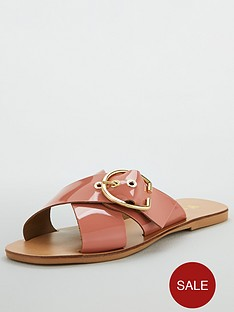 v-by-very-harriet-leather-buckle-cross-strap-sliders-light-pink