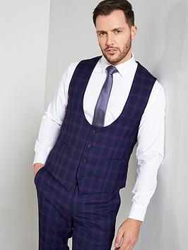 skopes-skopes-arlo-blue-purple-check-double-breatsted-waistcoat