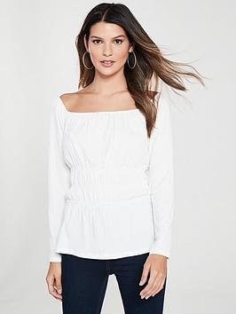 v-by-very-gathered-long-sleeve-top-ivory