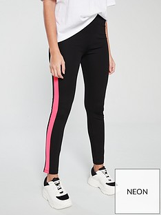 v-by-very-neon-stripe-leggings-co-ord-black
