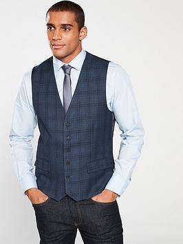 skopes-mosley-check-waistcoat-blue