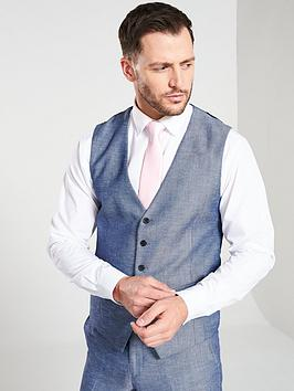 skopes-carlo-suit-waistcoat-blue