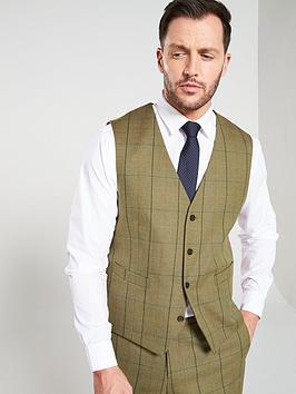 skopes-goodwood-lovatnbspcheck-waistcoat-olive