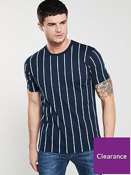 v-by-very-short-sleeved-vertical-stripe-t-shirt-navy