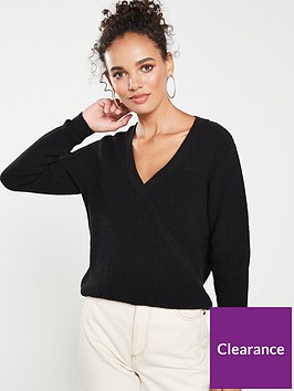 v-by-very-mock-wrap-over-jumper-black