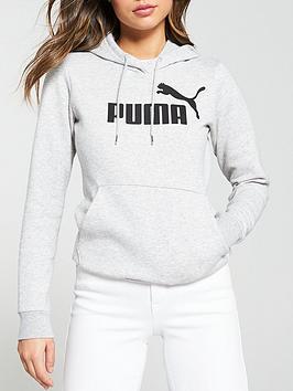Puma Puma Ess Logo Hoody Fl - Light Grey Heather Picture
