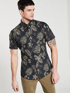 v-by-very-short-sleeved-floral-printed-shirt-black