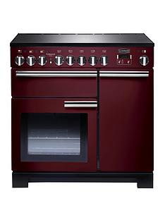 rangemaster-pdl90eicy-professional-deluxe-90cmnbspwide-electric-range-cooker-with-induction-hob--cranberry