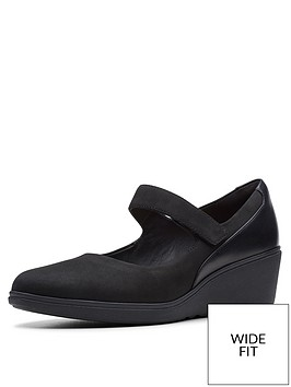 clarks-wide-fit-unstructured-un-tallara-ivy-wedge-shoes-black