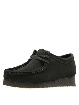 Clarks Clarks Originals Wallabee Flat Shoes - Black Picture