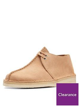 clarks-originals-desert-trek-flat-shoes-light-tan