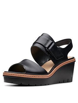 clarks-palm-stellar-wedge-sandals-black