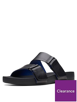 clarks-bright-deja-flat-strap-sandal-shoes--nbspblack