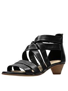 cfb136972c1 Clarks Mena Silk Sandals - Black