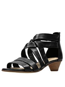d197d5f0f0cb Clarks Mena Silk Sandals - Black