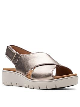Clarks Clarks Clarks Unstructured Un Karely Sea Wedge Sandal Picture