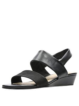 d21530f61d8b Clarks Sense Lily Wedge Sandals - Black