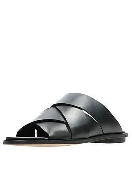 2a0860ff2493 Clarks Willow Art Weave Flat Sandal Shoes - Black