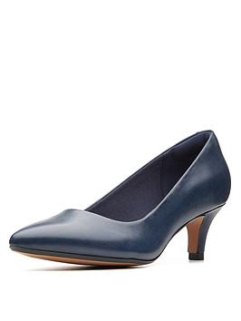 Clarks Clarks Linvale Jerica Heeled Shoes - Navy Picture