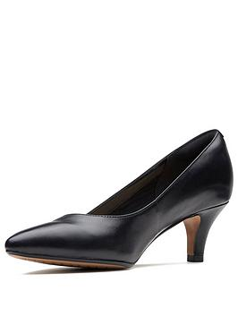 Clarks Clarks Linvale Jerica Wide Fit Heeled Shoes - Black Picture