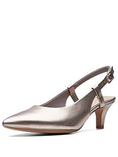 b1c14688a09 Clarks Linvale Loop Heeled Shoes - Pewter