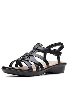 0c8240fa5de Clarks Loomis Katey Sandals - Black