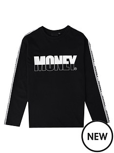 money-boys-long-sleeve-printed-t-shirt-black